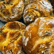 Pão de Fermentação Natural com Nozes